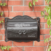 Rural Style Aluminium Alloy Small Mail Box Mailbox Metal Newspaper Letters Post Box Wall Mounted Home Garden Yard Decro Mailbox