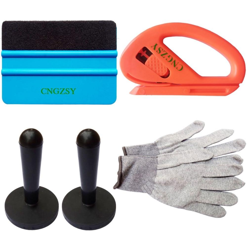 Universal Vinyl Film Wrap Squeegee Auto Fiber Glass Window Tint Tool Magnet Holders Cutter Gloves Car Window Repair Tool Set K18