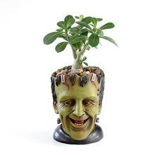 Frankenstein flowerpot figuras de ação brinquedo modelo caneta pote filme frankenstein figura modelo coleções presentes decoração do carro