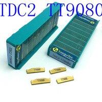 """כלי cnc 20PCS מחרטת להב קרביד TT9080 2 מ""""מ כלי TDC2 ניקור כלי חיתוך כלי מחרטת CNC (2)"""