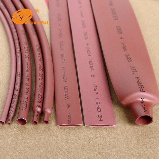 5 m/partia brązowy 2 MM-16 MM asortyment stosunku 21 rura termokurczliwa z poliolefinu rura termokurczliwa rurka termokurczliwa rękaw kablowy termokurczliwy