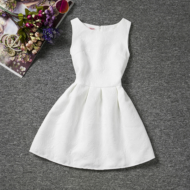 26ac3ed1a6e6 2018 New Baby Girls Brief Chic Dress Flower Patten Solid Sleeveless ...