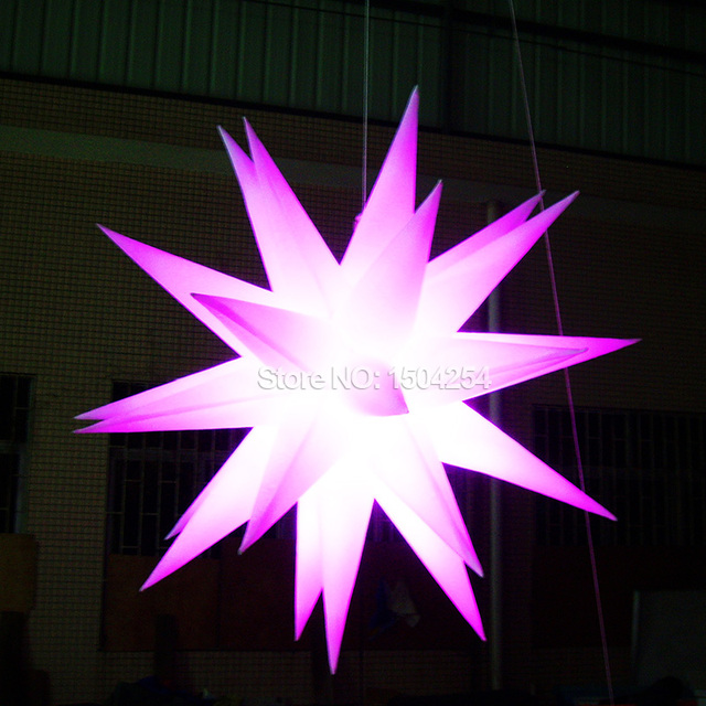 led inflatable star decoration for party light toy