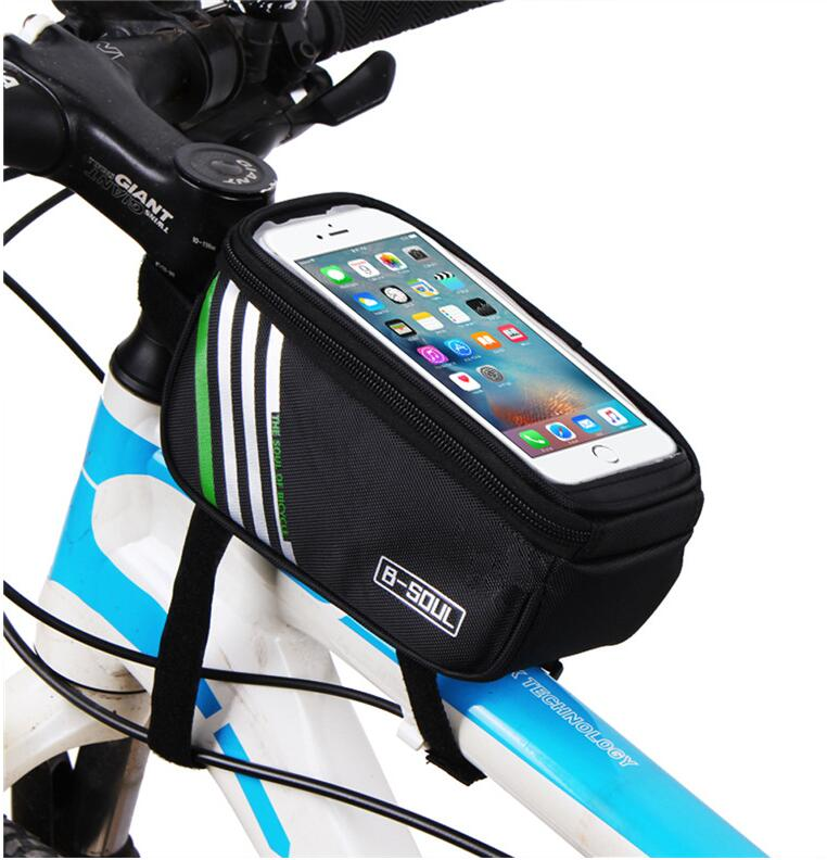 Bike Handlebar Frame Pannier Front Top Tube Bag Pack Pouch for Cell iPhone