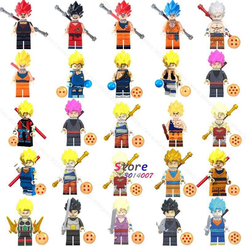 אחת בניין בלוקים דרגון בול Z גוקו Vegeta קומיקס סרט אוסף סדרת בניית סיילור מון צעצוע לילדים