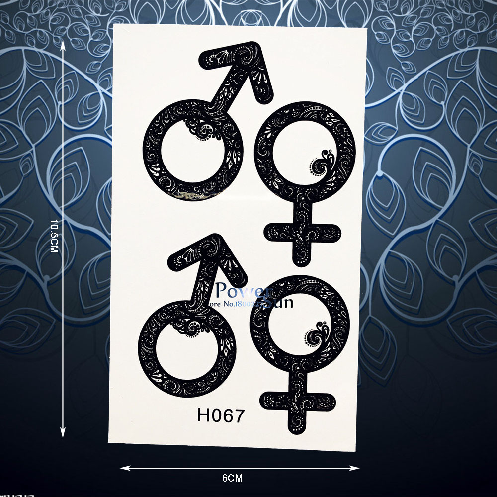 Summer style sex gender symbol temporary tattoo sticker for men summer style sex gender symbol temporary tattoo sticker for men women henna waterproof arm leg decals fake tattoo stickers ph067 in temporary tattoos from biocorpaavc Images