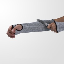 1pcs Anti Cut Safety Arm Sleeves Puncture Proof Guard Bracers Working Gloves Men Butcher Sport Arm Protective Long Safety Gloves