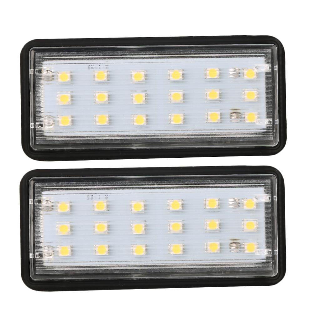 2pc LED License Plate Lights Lamp For Toyota J100 J120 J200 Lexus LX470 LX570