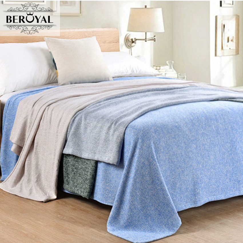 Beroyal Brand 2017 Throw blanket-1pc bamboo blanket adult Sold blankets for Beds soft throw rugs blanket on Summer 140*190cm 2016 fashion knitted mermaid blanket fish tail soft and warm blanket adult throw bed wrap sleeping bag60 140 cm