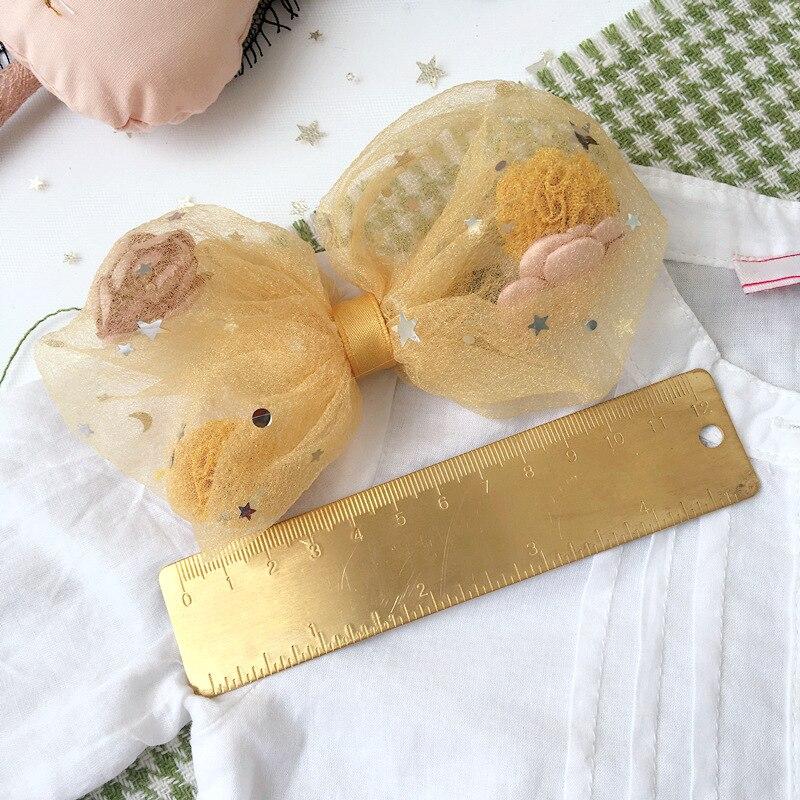 Korea Princess Big Lace Hair Bows Hair Clips For Girls Hair Accessories Flower Crown Hair Grips Hairpin Kids Gift
