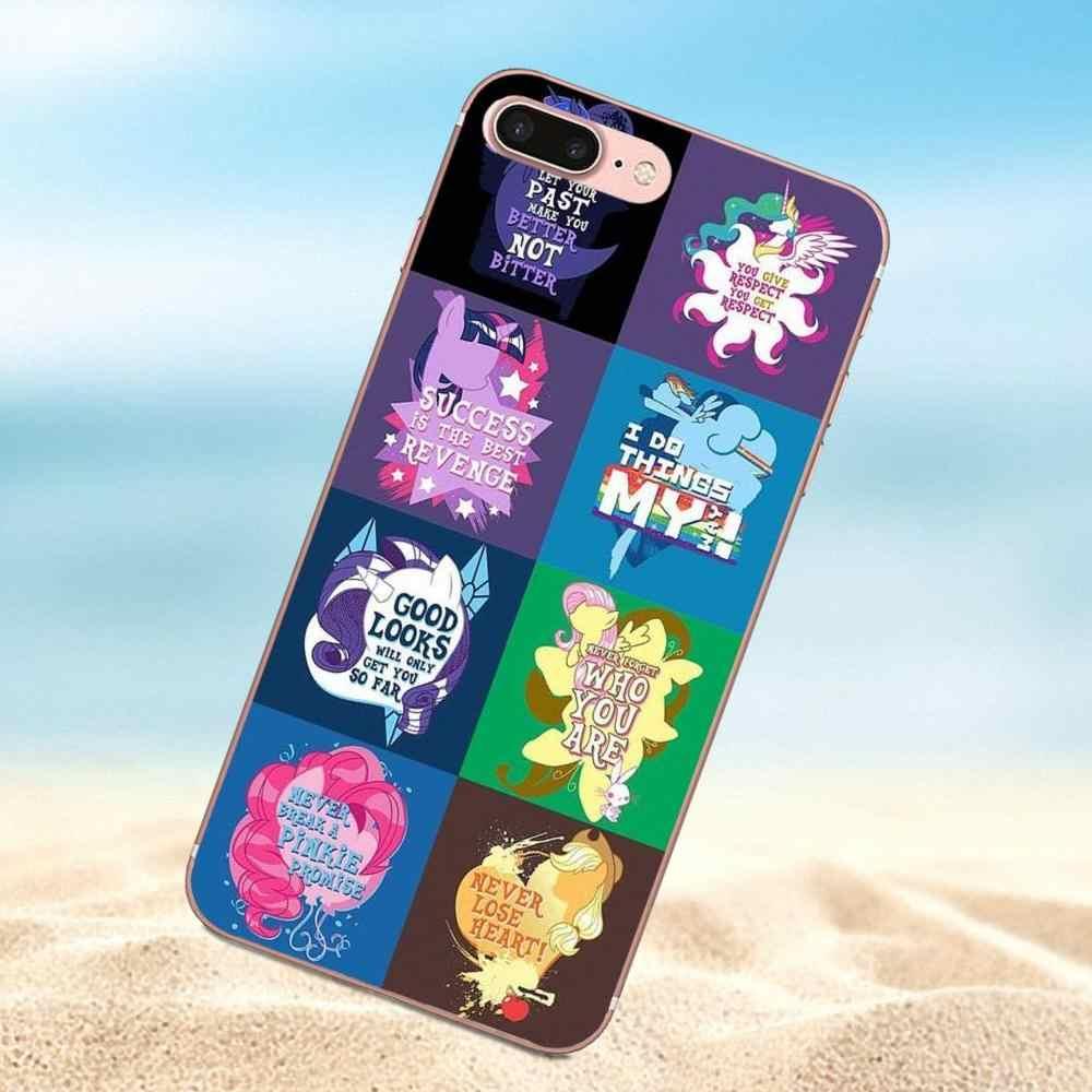 Qdowpz ТПУ Печати Крышка Случая Прохладный My Little Pony Для Huawei Честь G8 5C 5X 6 6X7 8 9 Y5II Mate 9 P7 P8 P9 P10 P20 Lite Плюс 2017