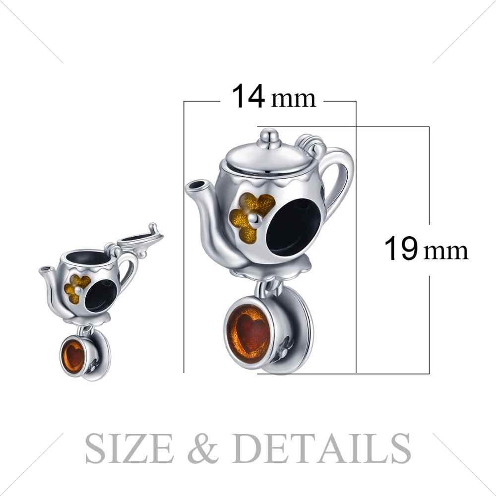 JewelryPalace 925 เงินสเตอร์ลิงชาถ้วยกาแฟลูกปัดเงิน 925 Original Fit สร้อยข้อมือเงิน 925 เครื่องประดับ