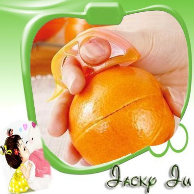 15pcs/Lot Free Shipping New Kitchen Tool Mouse Shape Plastic Multi-Function Fruit Citrus Orange Lemon Peeler