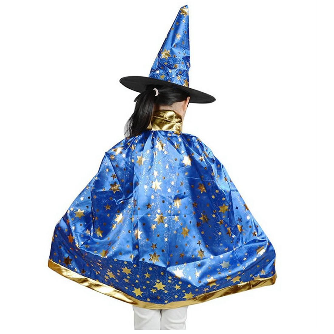 HOT SALE Halloween Costumes Witch Wizard Cloak with Hat for Kids Boys Girls  Black-in Clothing Sets from Mother   Kids on Aliexpress.com  4943d0202e50