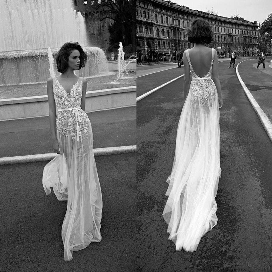 256f993f78141 US $210.0 |Vintage Lace Floral Beach Boho Wedding Dress 2019 Cheap Sexy  Bohemian Street Bridal Dress Robe de mariee-in Wedding Dresses from  Weddings & ...