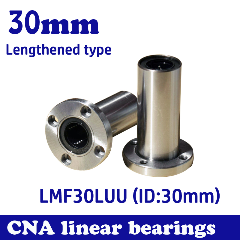 Free shipping LMF30LUU long type 30mm flange linear bearing CNC Linear Bush 42l w025 free shipping long type lmk40 luu 40 60 154mm 40mm square flange long linear bearing for cnc parts