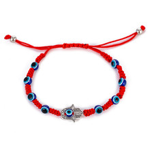 Trendy Blue Eye Red Rope Bracelets for Women Men Adjustable Classic Braided Hand Jewelry Gift DropShipping