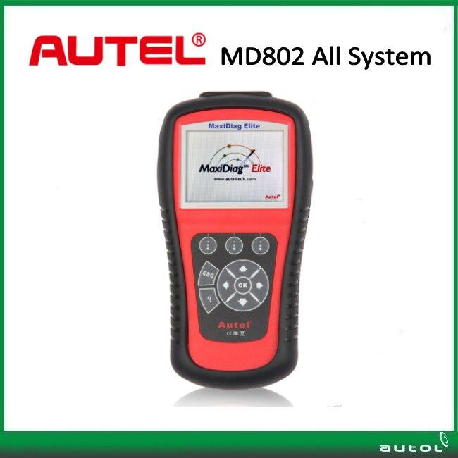 Цена за Autel Maxidiag Elite MD802 Все Системы Scan Tool Autel MD802 MD 802 Сканер Code Reader