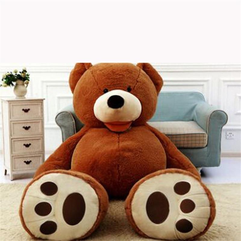 Peluche ours en peluche énorme ours américain grande taille 102 pouces 260 CM peau d'ours en peluche, bonne qualité prix usine doux jouets pour les filles - 3