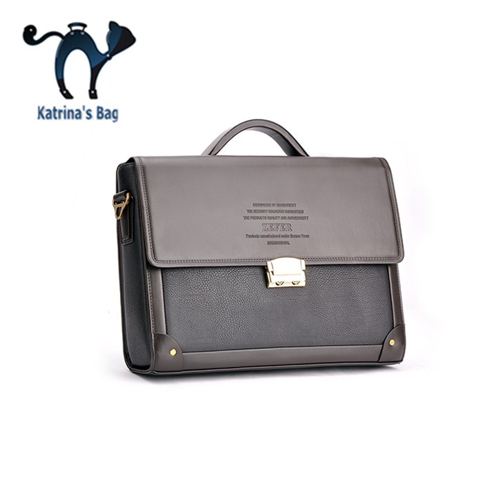 2015 Seconds Kill New Silt Pocket Free Shipping Composite Leather Zefer Male Business Bag Briefcase Man