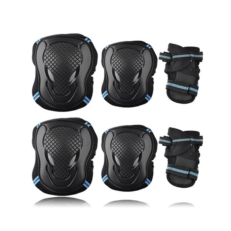 6PCS Kids Protective Gear Knee Pads Elbow Wrist Roller Skating Safety Protect b$