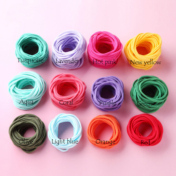 2500 pcs/lot, Soft Thin nylon headbands Super Stretchy Nylon Baby Headbands, DIY Hair Accessories