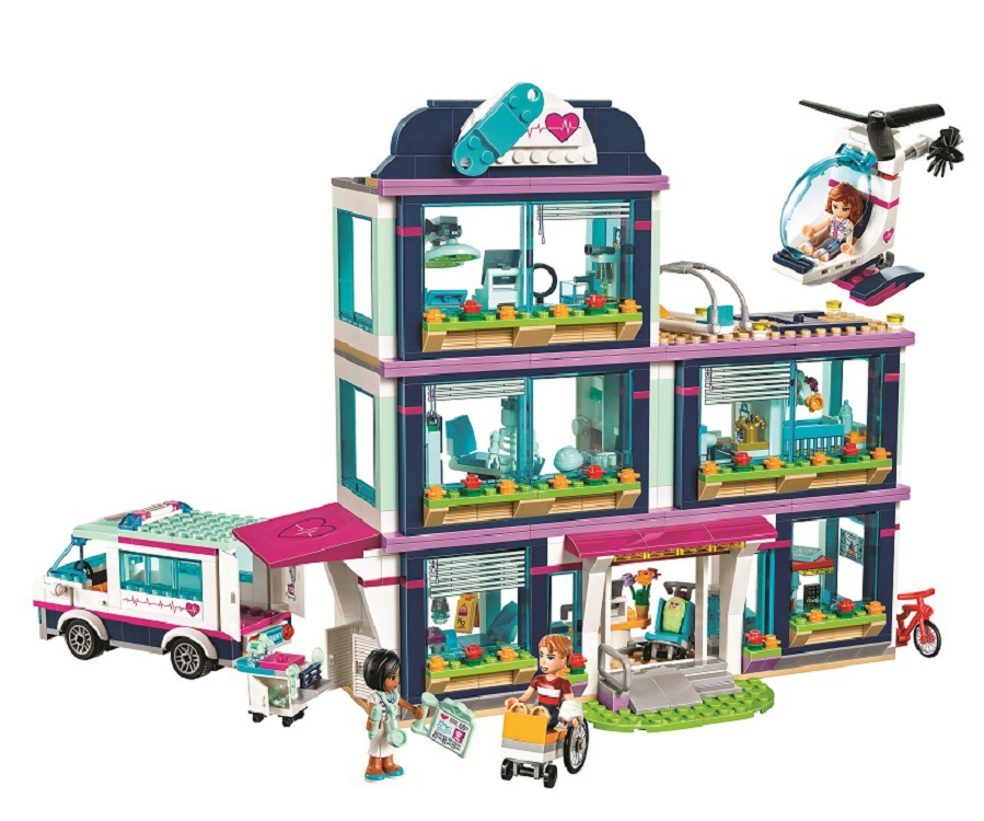 Heart Lake Love Hospital Girls Friends sets Bricks education Toys For KIDS children gifts Compatible with