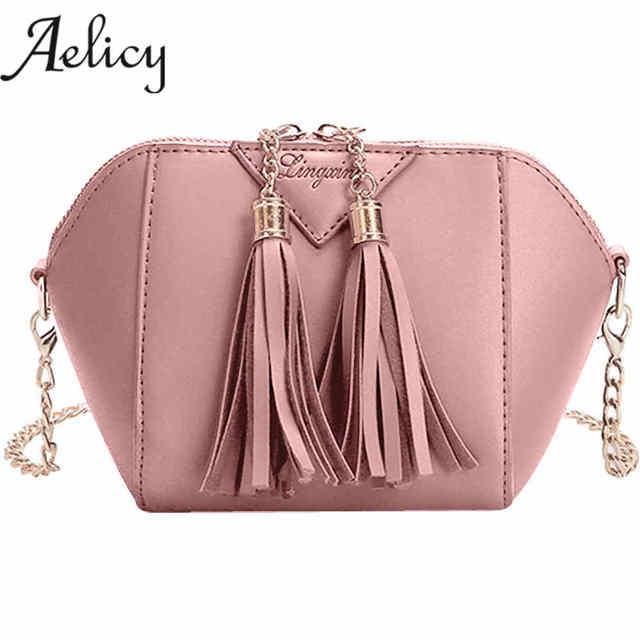 9ce15f49e Aelicy Moda Feminina Bolsa Tassel Bolsa de Ombro Pequeno Saco de Lona bolsa  Das Senhoras Bolsa