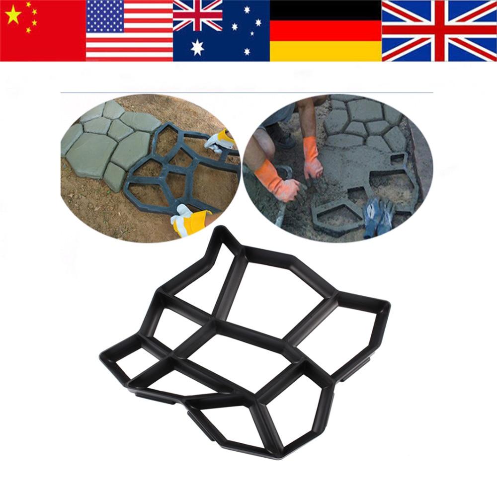 Garden Walk Path Maker Mold Manually Paving Cement Brick Stone Road  Concrete Molds DIY Pavement Mold
