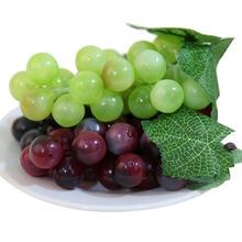Правдоподобный искусственный виноград Пластик Искусственные цветы поддельные декоративные моделирования фрукты Еда красивый дом вечерние Декор