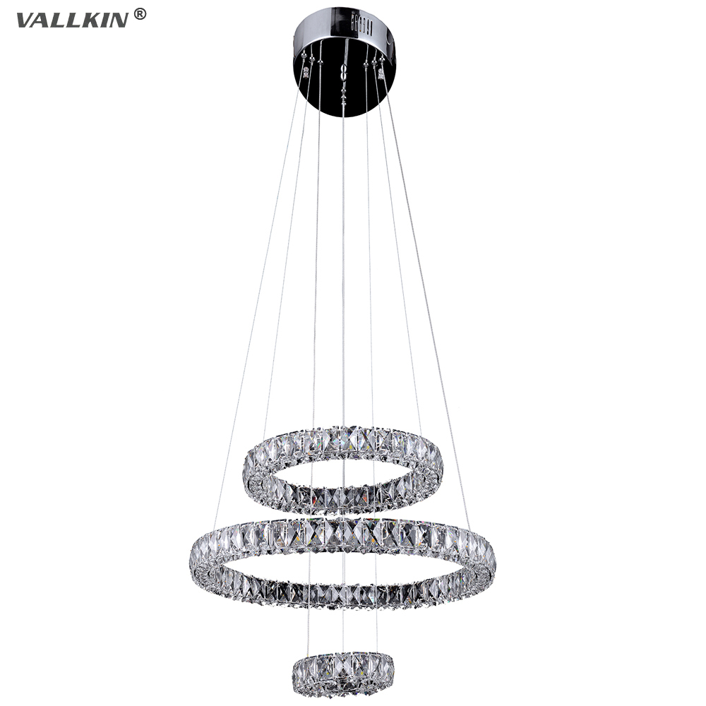 LED Pendant Light For Living Room With 3 Rings D203040CM Ac100 To 240v Cool Warm
