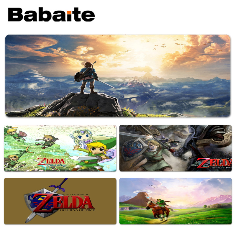 Babaite Funny Legend Of Zelda Wallpaper mouse pad gamer play mats Size for 300x700x2mm and 300x900x2mm Small Mousepad ...