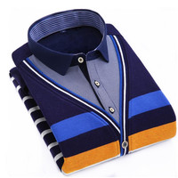 Autumn Winter Striped Fashion New Men S Thermal Thicken Sweater Leisure Slim Pullovers Youth Sweaters Shirt
