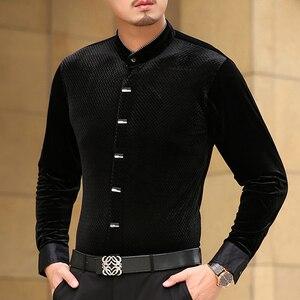 Image 4 - Mu Yuan Yang 2020 sonbahar yeni rahat erkek uzun kollu gömlek ile yüksek kaliteli gömlek Slim Fit uzun kollu erkek gömlek erkek gömlek 50% kapalı büyük boy 3XL