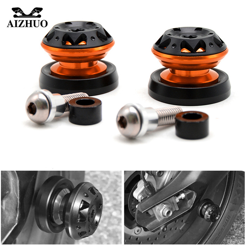 Swingarm Spool Sliders Universal Motorcycle For 10mm KTM 125 Duke 200 Duke 2012-2015 390 Duke 8mm SUZUKI B-KING 1300 2008-2012 for 2012 2015 ktm 125 200 390 duke motorcycle rear passenger seat cover cowl 11 12 13 14 15