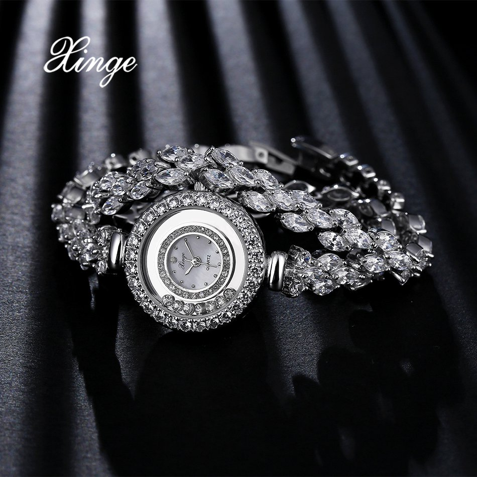 Xinge Top Brand Luxury Women Watches Silver Stainless Steel Dress Quartz Clock Simple Bracelet Watch Relogio Feminino xinge top brand luxury women watches silver stainless steel dress quartz clock simple bracelet watch relogio feminino