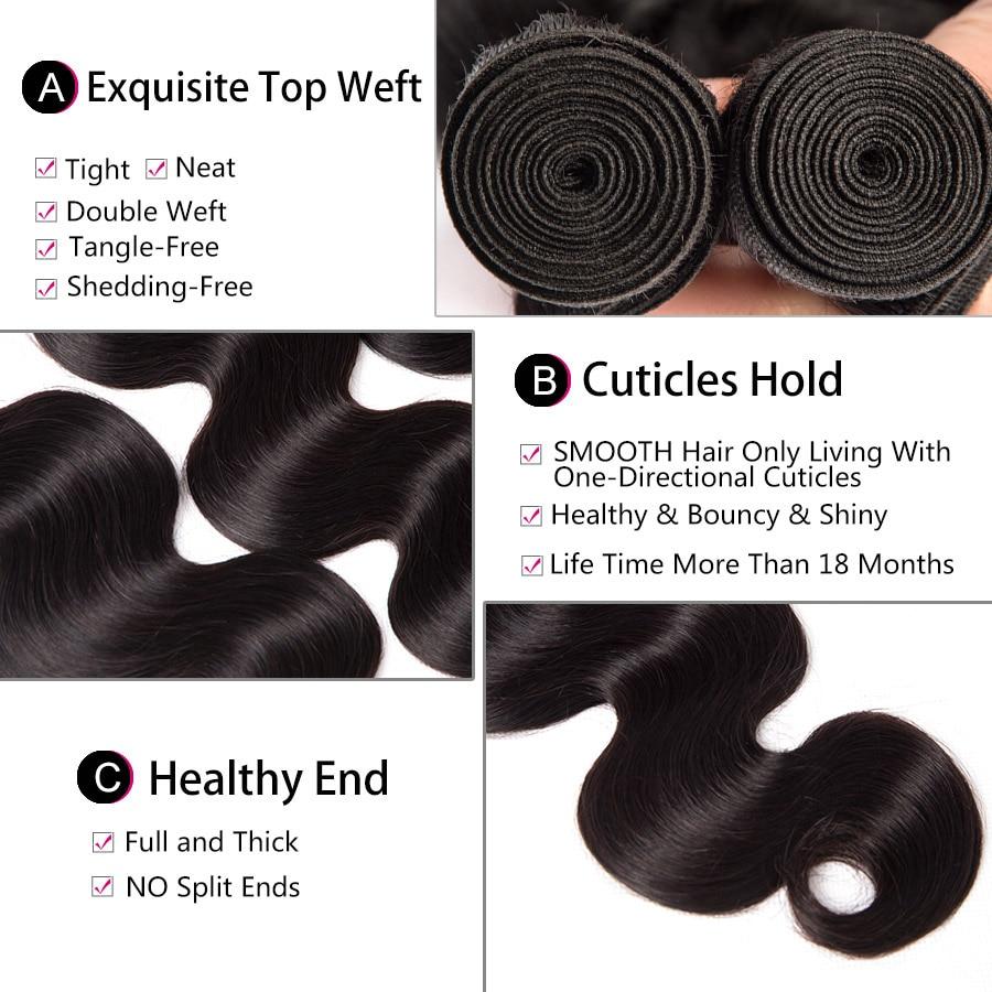 Brazilian Body Wave Bundles 10-28 Inch Hair Weave Remy Human Hair Extensions 3/4 Bundles Per Lot Alipop Hair Bundles No Tangle