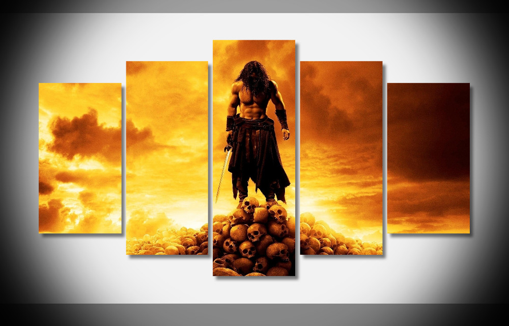 2695 conan the barbarian movie Poster Framed Gallery wrap art print home wall decor wall picture Already to hang digital printr