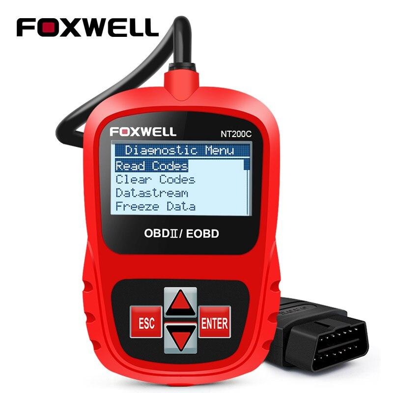 FOXWELL NT200C OBD2 EOBD Car Automotive Scanner Engine Code Reader Sensor Freeze Frame Data OBDII Diagnostic Tool Better ELM327