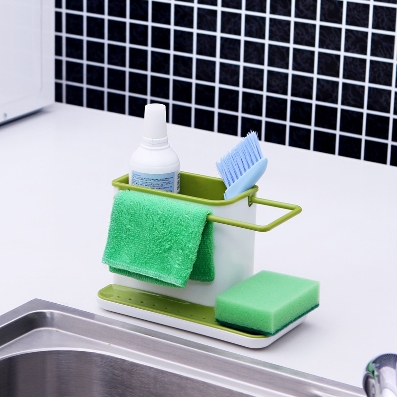 Multifunction Kitchen Sink Drains Rack Organizer Dish Soap Sponge Brush Holder Kitchen Storage Holders Racks Organizer
