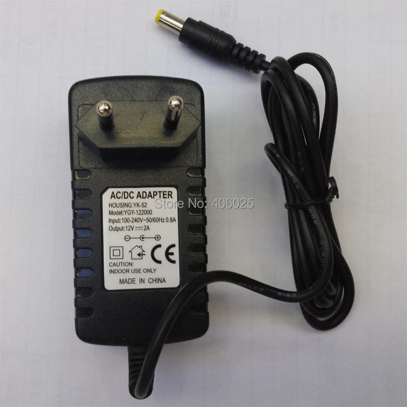 все цены на  Euro EU Plug Power Supply CCTV Camera Adapter AC110V AC220V Input DC12V 2000mA Output 50Hz 60Hz 5.5mm*2.1mm Connector 5PCS/Lot  онлайн