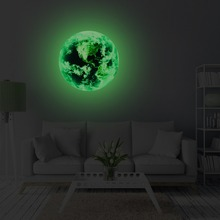 3D Moon Shaped Wall Sticker for Home Decor