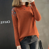 2019 thicker autumn and winter new sweater half length collar knit sweater loose Korean jumper