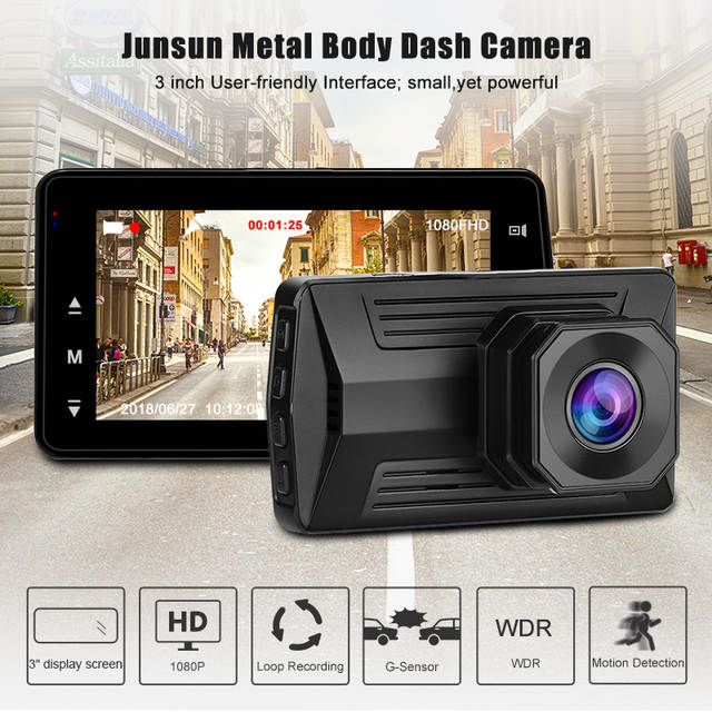 73d0ddb22 placeholder Junsun 3'' Mini Cámara De Coche, Full HD 1080P Dash Camera Auto  Cámara