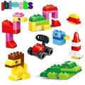 Iblocks 72 unids grande classic loose creativo diy compatibles con duplo bloques de construcción de plástico grande de ladrillo juguetes educativos para niños