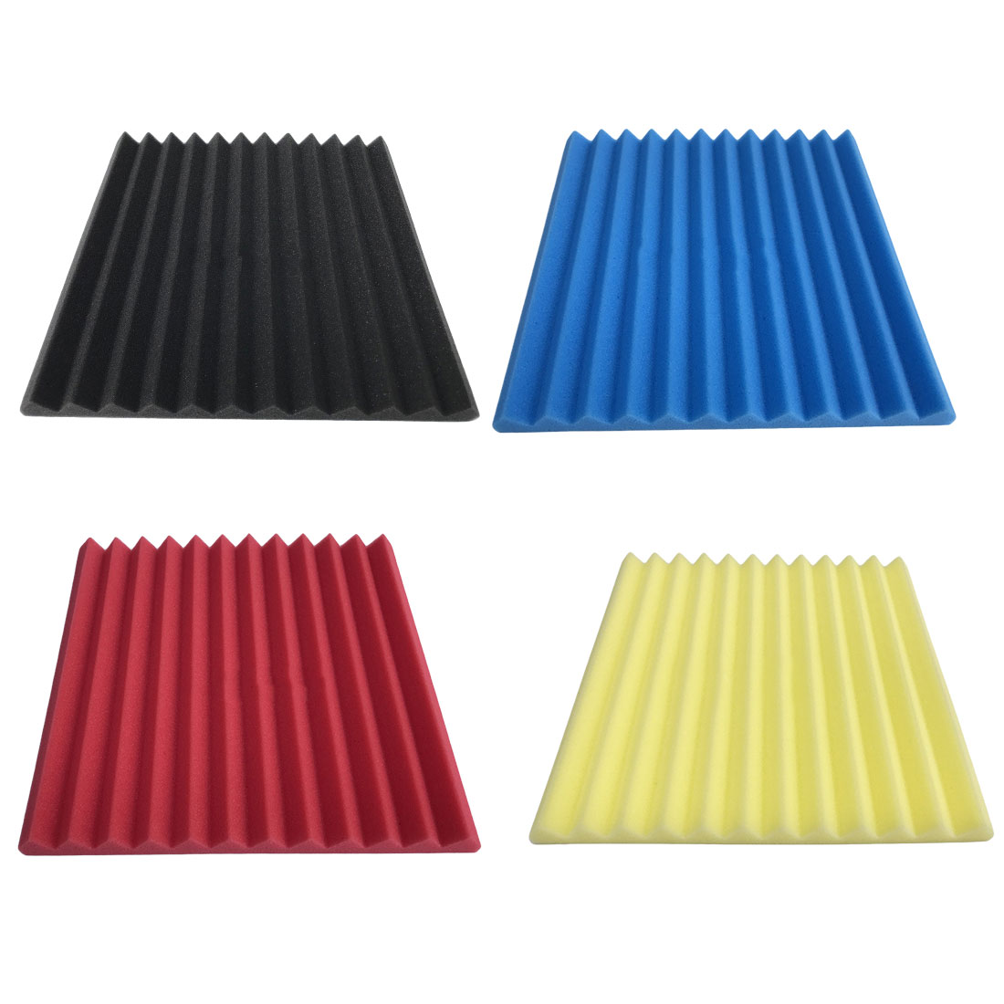 8Pcs 305 x 305 x 25mm Soundproofing Foam Acoustic Foam Sound Treatment Studio Room Absorption Wedge Tiles Polyurethane foam коробка для мушек snowbee slit foam compartment waterproof fly box x large
