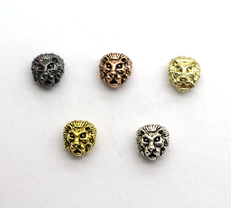Beads Charm Beads Lion Heads Bead For Jewelry Making Diy Handmade Bracelet Finding Stainless Steel Beads Jewelry Accessory Wholesale