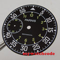 38.9mm black dial fit 6497 ST3620 movement Watch Case Luminous marks D103