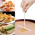 Практичная Т-образная блинница, блинное тесто, деревянная распределительная палочка, многофункциональный набор для торта, сделай сам, домашний кухонный инструмент - фото