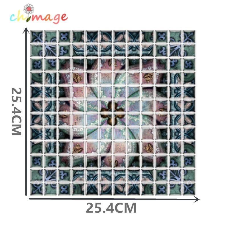 3d mosaik fliesen wandaufkleber diy kche bad backsplash wohnkultur goldfolien hintergrundbild ichchina - Mosaik Flie